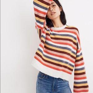 Madewell Cardiff Striped Crewneck Sweater, XS